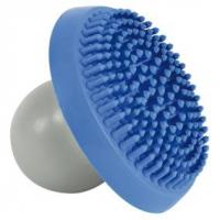 Щетка массажная с контейнером для шампуня, натуральная резина, синий/серый