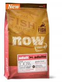 11,35кг NOW FRESH Grain Free Fish Adult Recipe DF Беззерновой для взрослых собак с форелью и лососем для чувствительного пищеварения 24/14