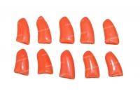 Коготки накладные для кошек, 10шт, размер S, оранжевые