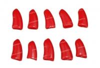 Коготки накладные для кошек, 10шт, размер S, красные