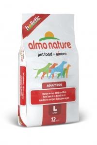 Корм Almo Nature для взрослых собак крупных пород с говядиной,Large Adult Beef and Rice Holistic (12 кг)