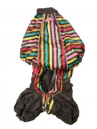 Дождевик коричневый в полоску на мальчика Вельш Корги, размер K39