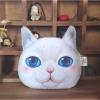 """Сумочка для монет """"Кошка"""" светлая с голубыми глазами"""